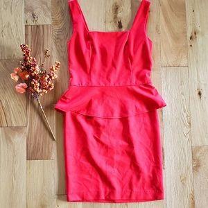 ECI Red peplum dress
